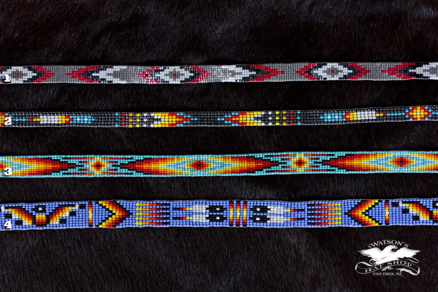 american hat bands native chevron ljgreywolf band cherokee beaded green products