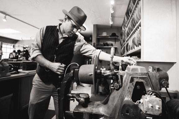 Eric Watson at Watson's Hat Shop