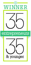35 Entrepreneurs logo winner
