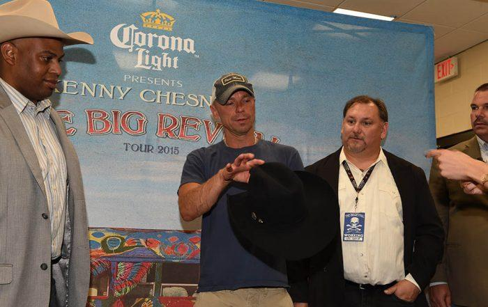 kenny chesney gets a Watson's custom hat