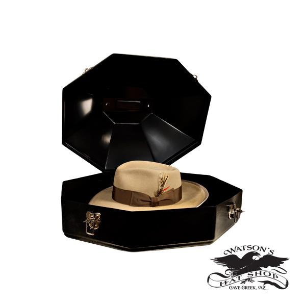 Watson's custom hat case with Hat