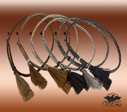 horsehair braided hat bands