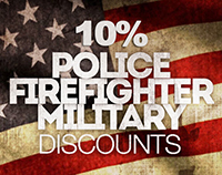 police, military, firefighter discount
