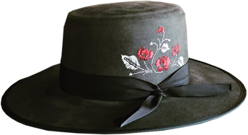 Lady Watson embroidered hat
