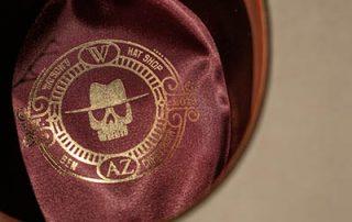 Ben Christensen Hat-inner lining-logo